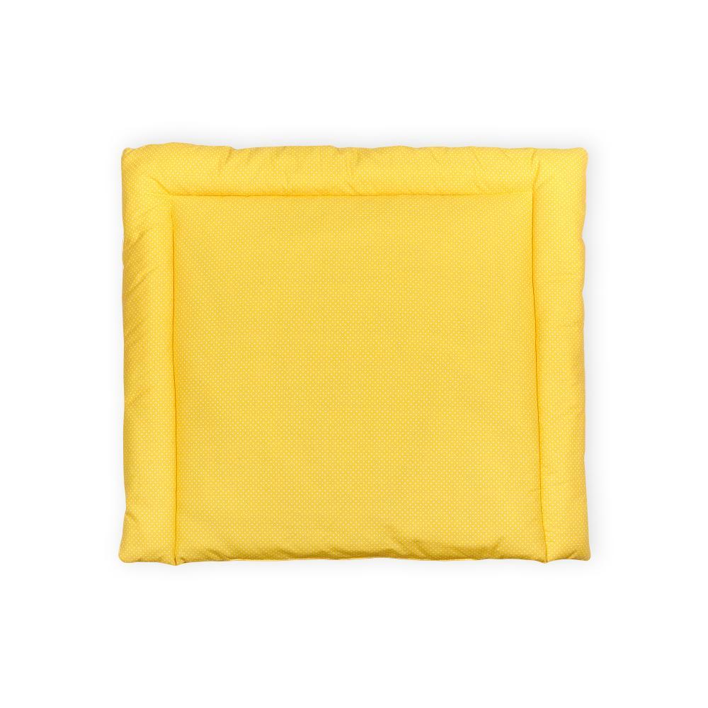 KraftKids Wickelauflage weiße Punkte auf Gelb breit 60 x tief 70 cm passend für Waschmaschinen-Aufsatz von KraftKids