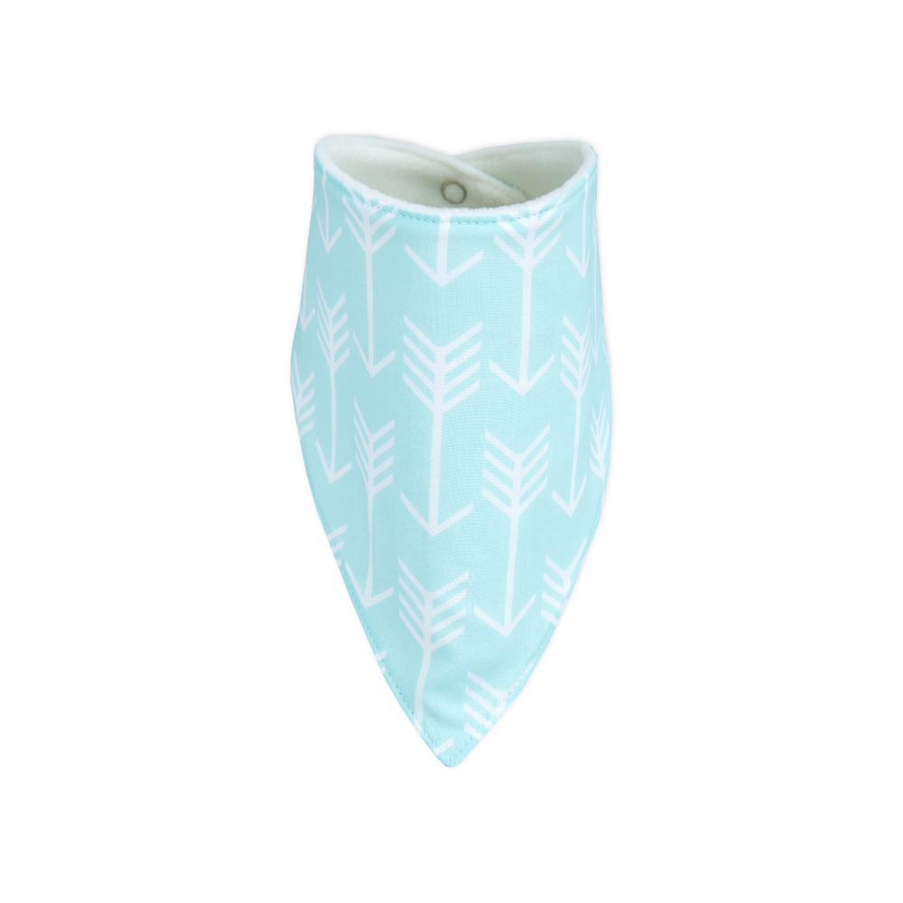 KraftKids Dreieckstuch weiße Pfeile auf Mint