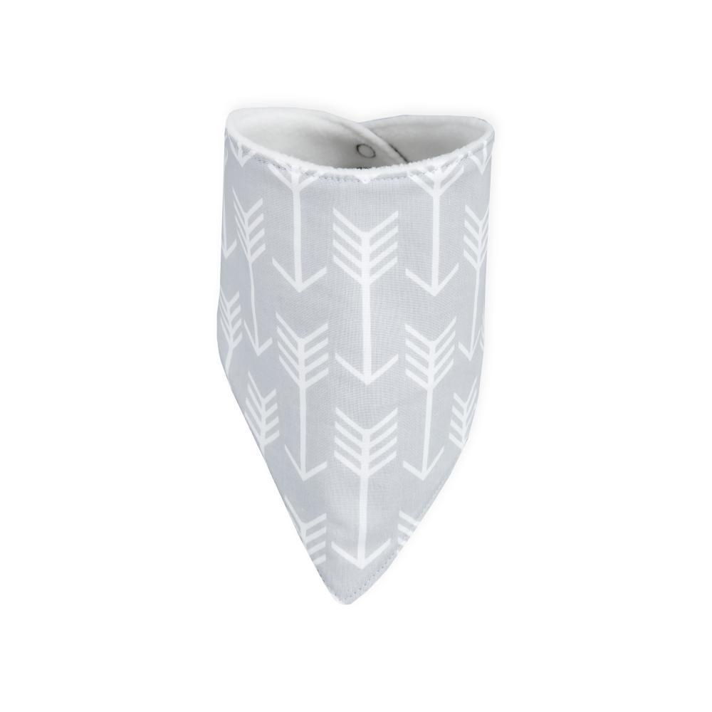 KraftKids Dreieckstuch weiße Pfeile auf Grau