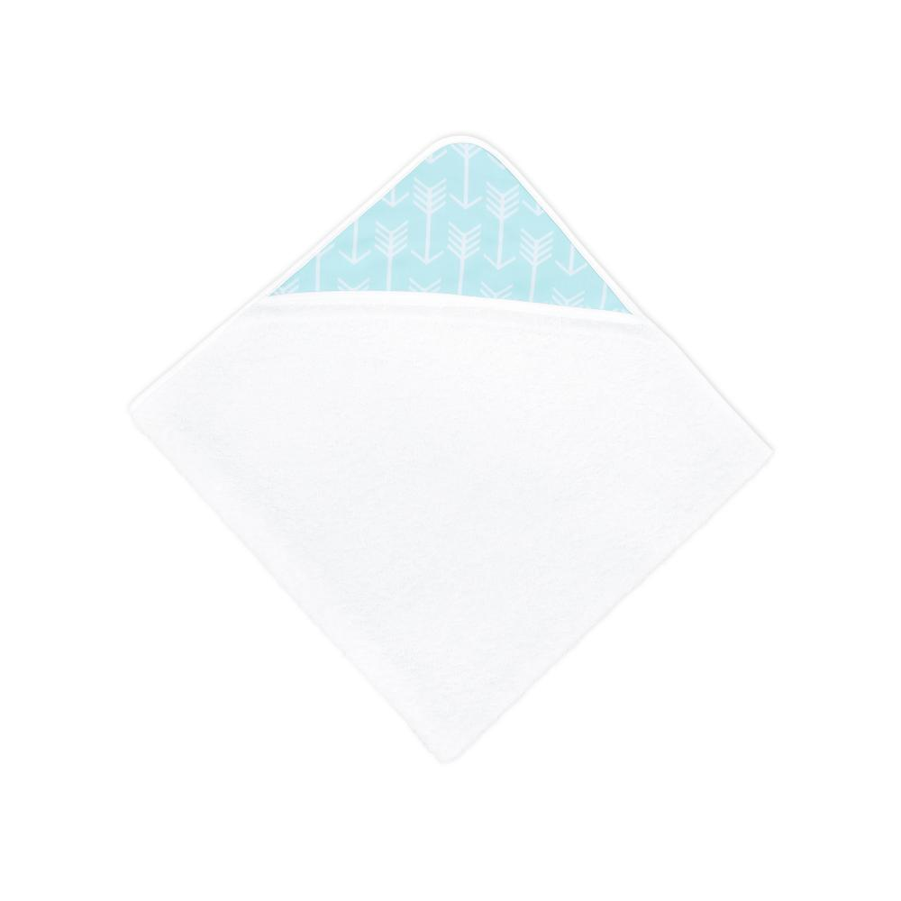 KraftKids Kapuzenhandtuch weiße Pfeile auf Mint