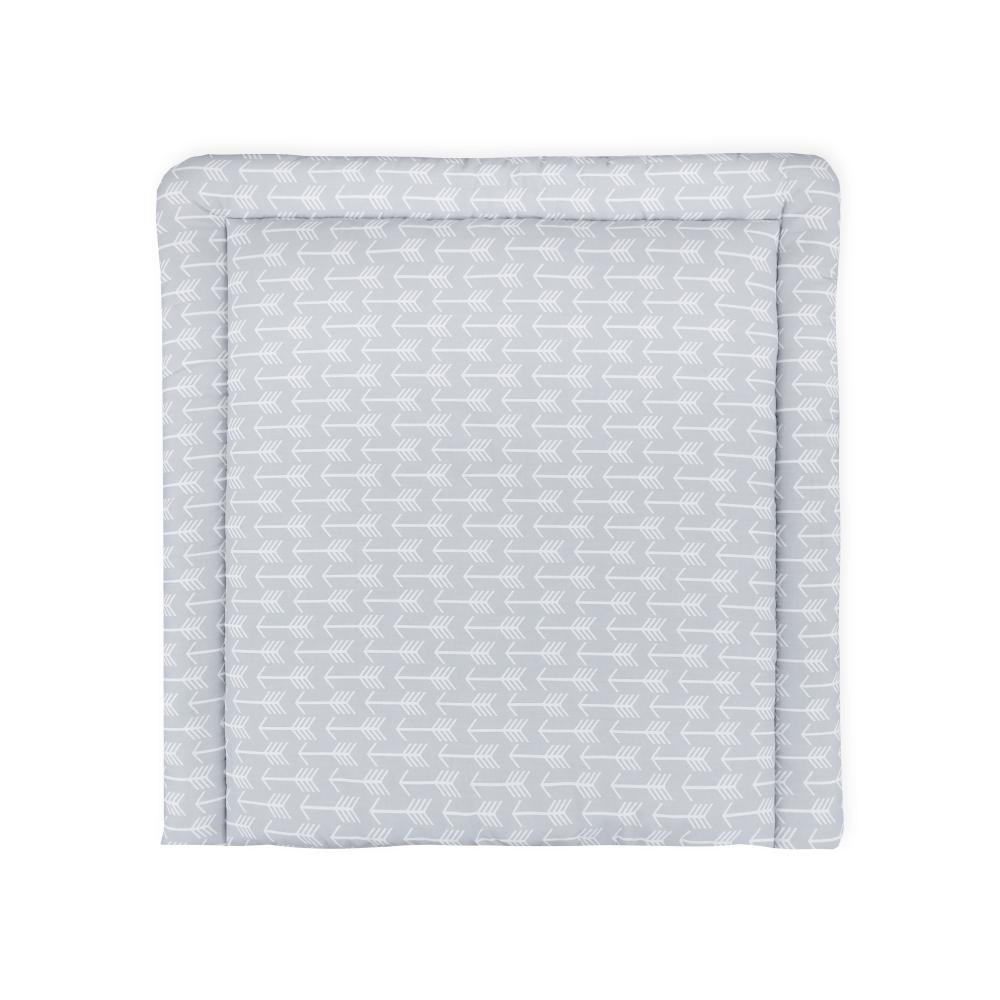 KraftKids Wickelauflage weiße Pfeile auf Grau breit 60 x tief 70 cm passend für Waschmaschinen-Aufsatz von KraftKids