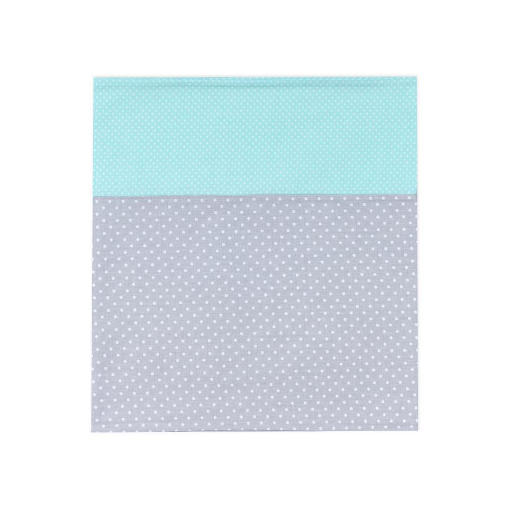 KraftKids Stilltuch weiße Punkte auf Grau und weiße Punkte auf Mint