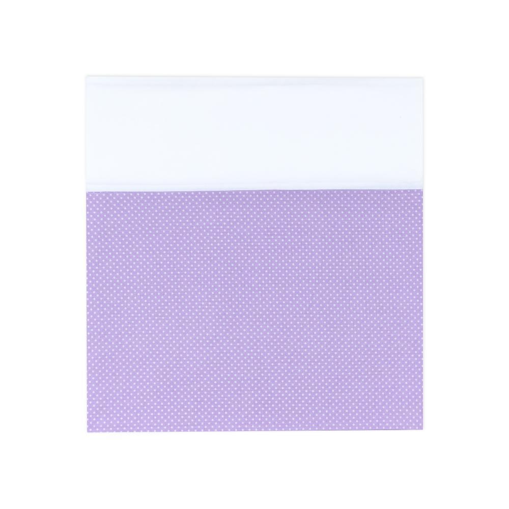 KraftKids Stilltuch Uniweiss und weiße Punkte auf Lila