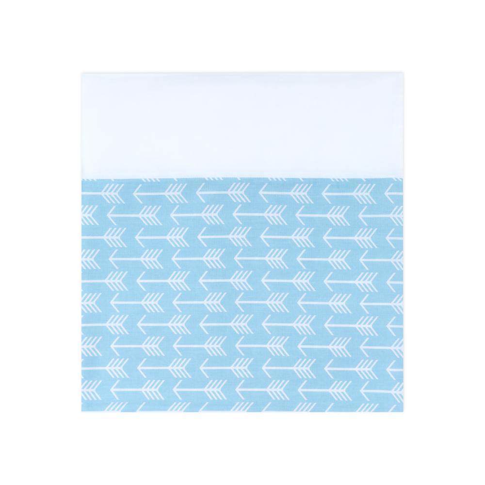 KraftKids Stilltuch weiße Pfeile auf Blau und Uniweiss