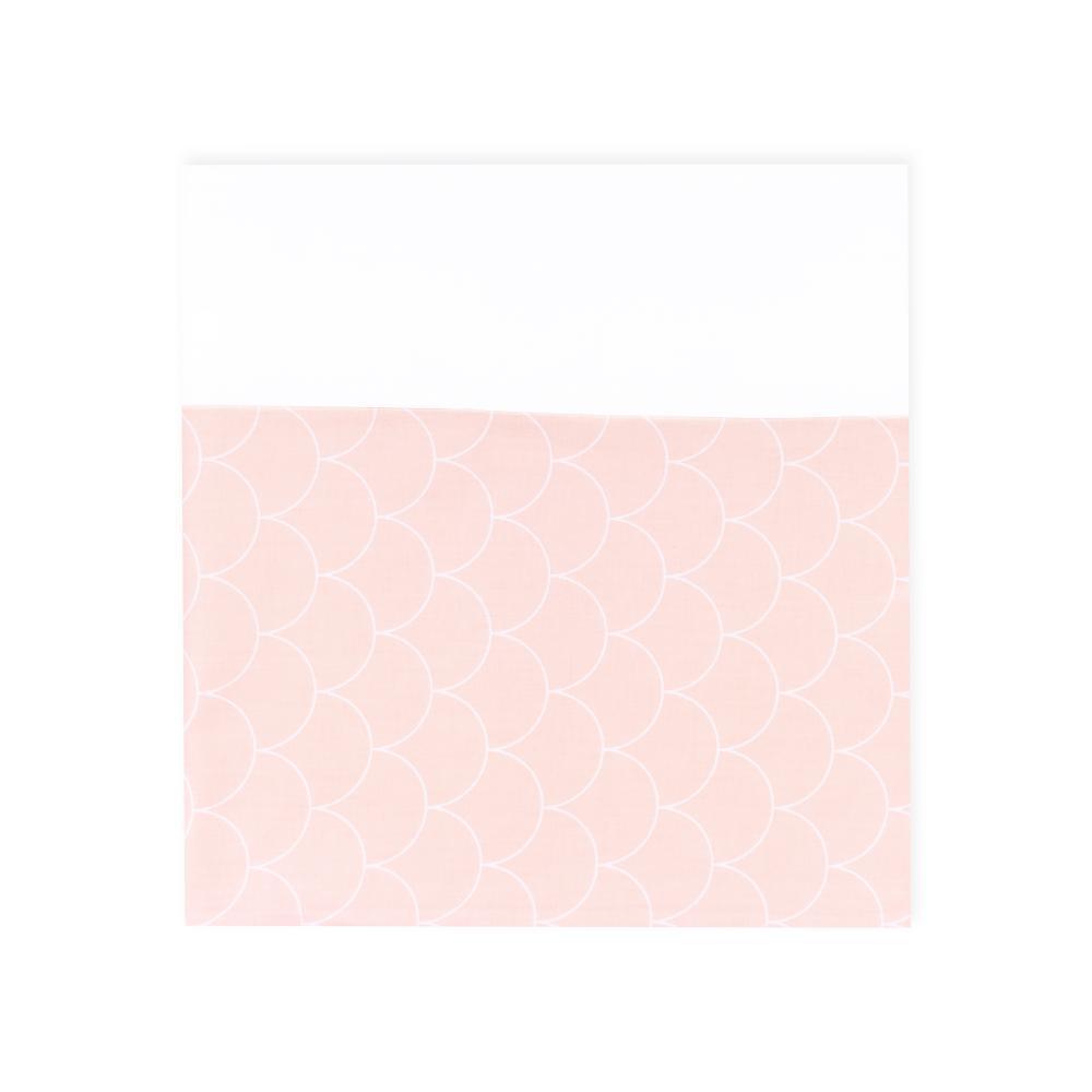 KraftKids Stilltuch Uniweiss und weiße Halbkreise auf Pastelrosa