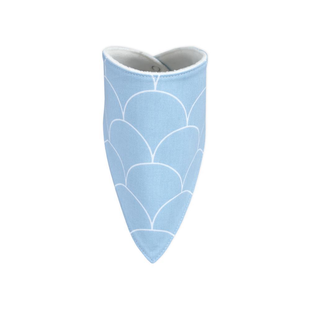 KraftKids Dreieckstuch weiße Halbkreise auf Pastelblau