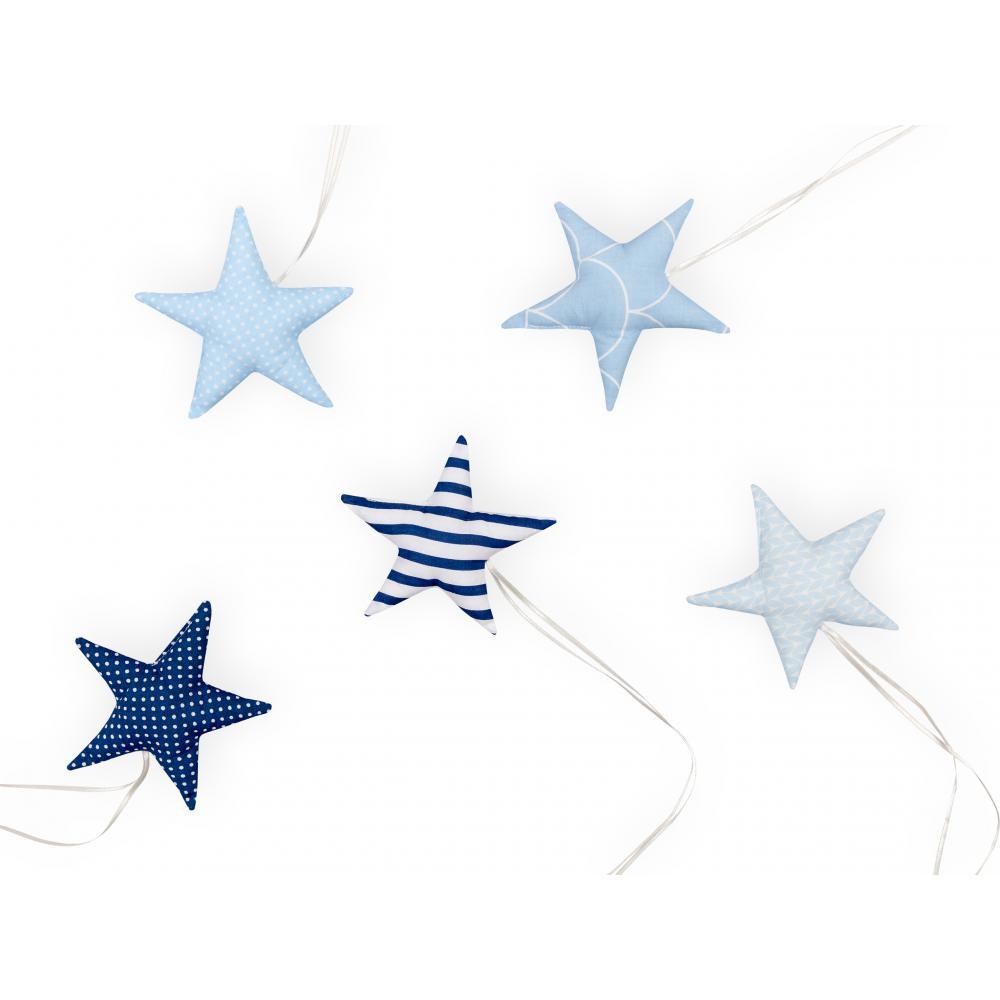 KraftKids Dekoration Stoffsterne blau wei?