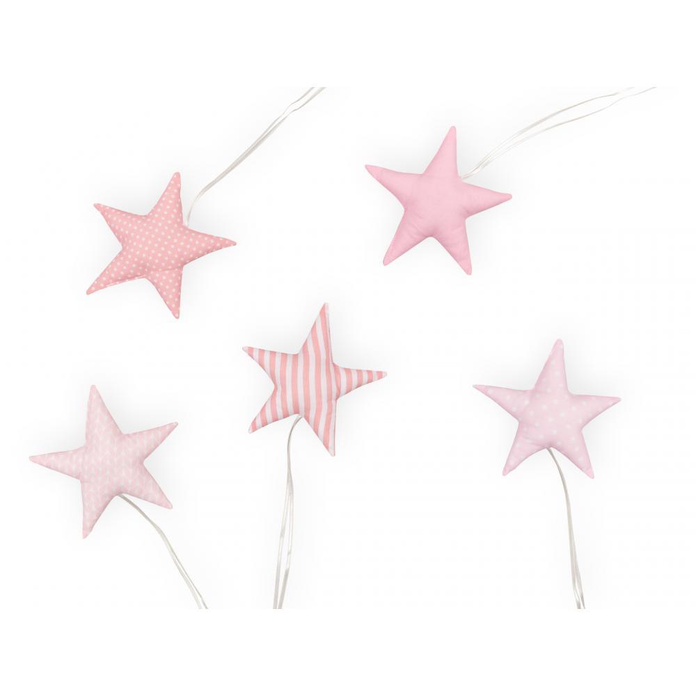 KraftKids Dekoration Stoffsterne rosa wei?