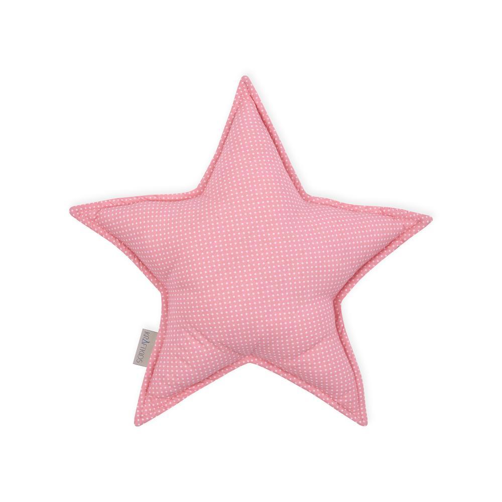 KraftKids Dekoration Sternkissen weiße Punkte auf Koralrosa
