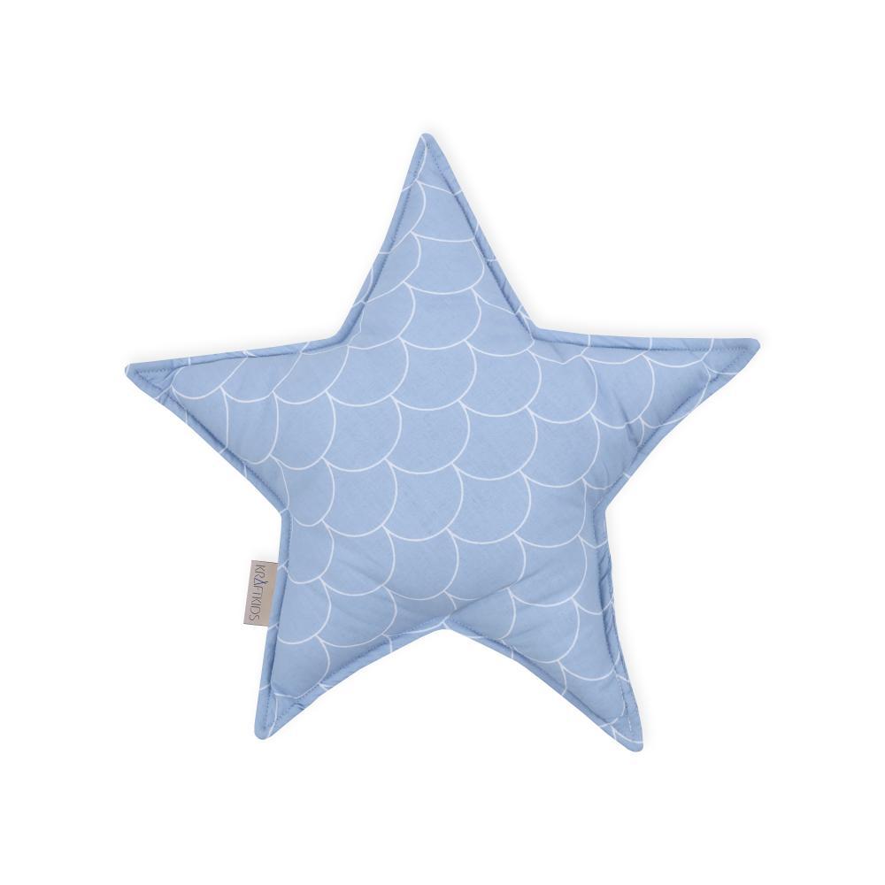 KraftKids Dekoration Sternkissen weiße Halbkreise auf Pastelblau