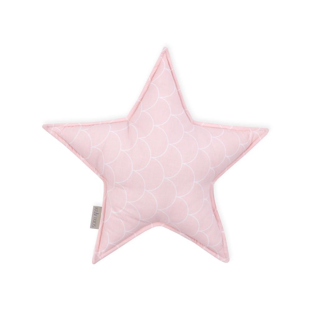 KraftKids Dekoration Sternkissen weiße Halbkreise auf Pastelrosa