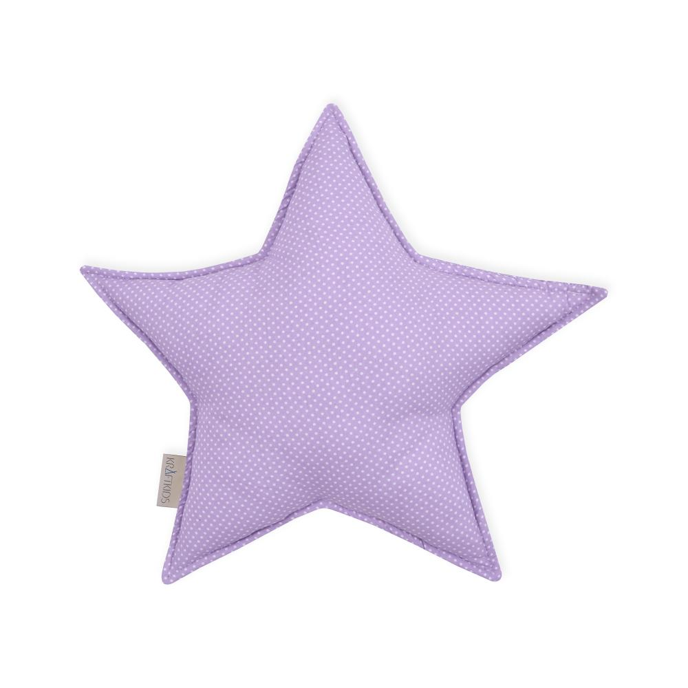KraftKids Sternkissen weiße Punkte auf Lila