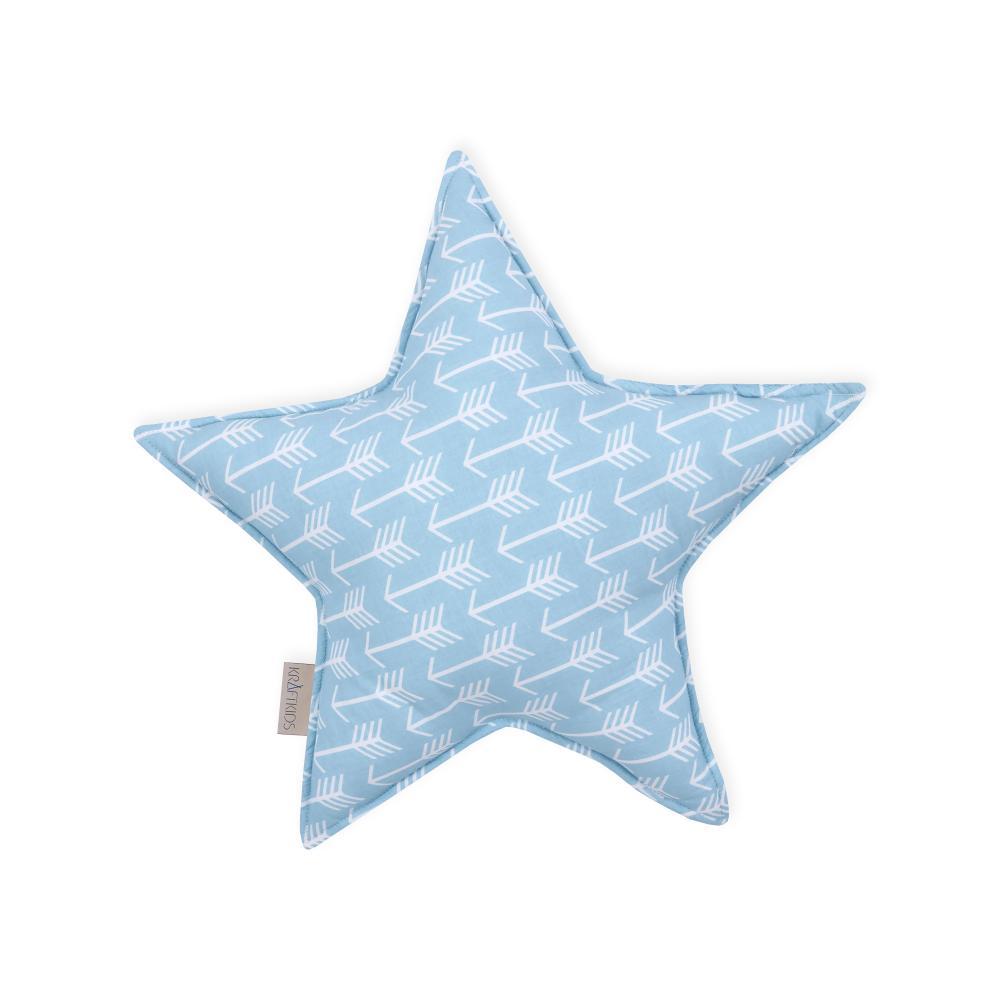 KraftKids Sternkissen weiße Pfeile auf Blau