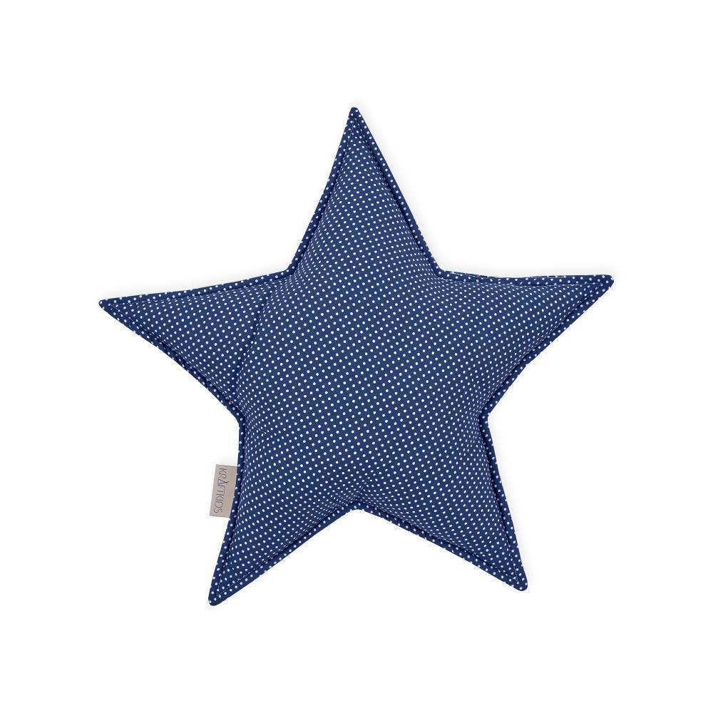 KraftKids Sternkissen weiße Punkte auf Dunkelblau