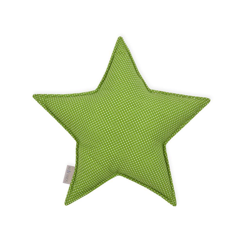 KraftKids Sternkissen weiße Punkte auf Grün