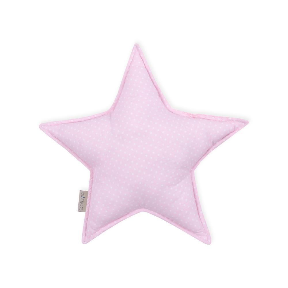 KraftKids Sternkissen weiße Punkte auf Rosa