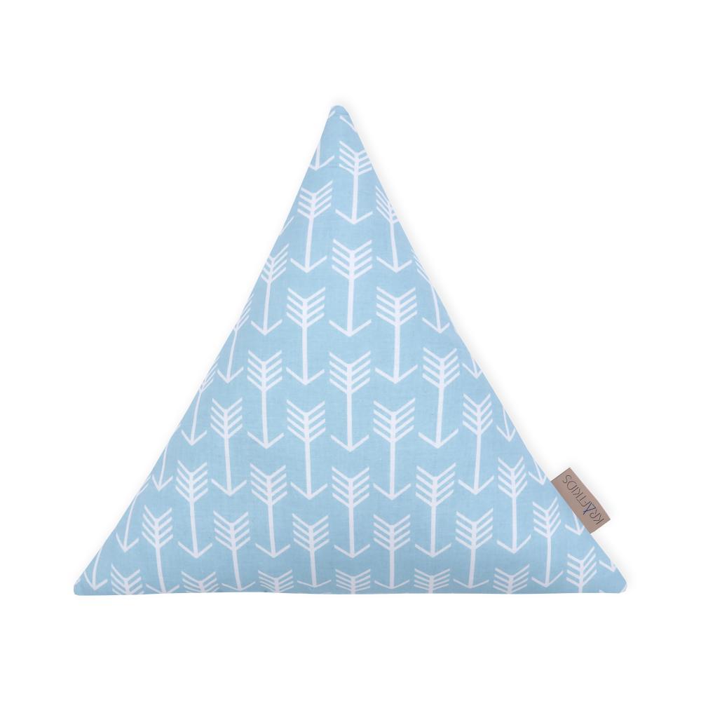 KraftKids Dekoration Stoffdreieck weiße Pfeile auf Blau