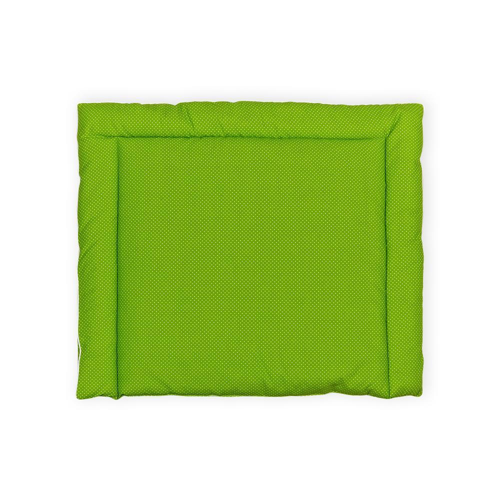 KraftKids Wickelauflage weiße Punkte auf Grün 85 cm breit x 75 cm tief