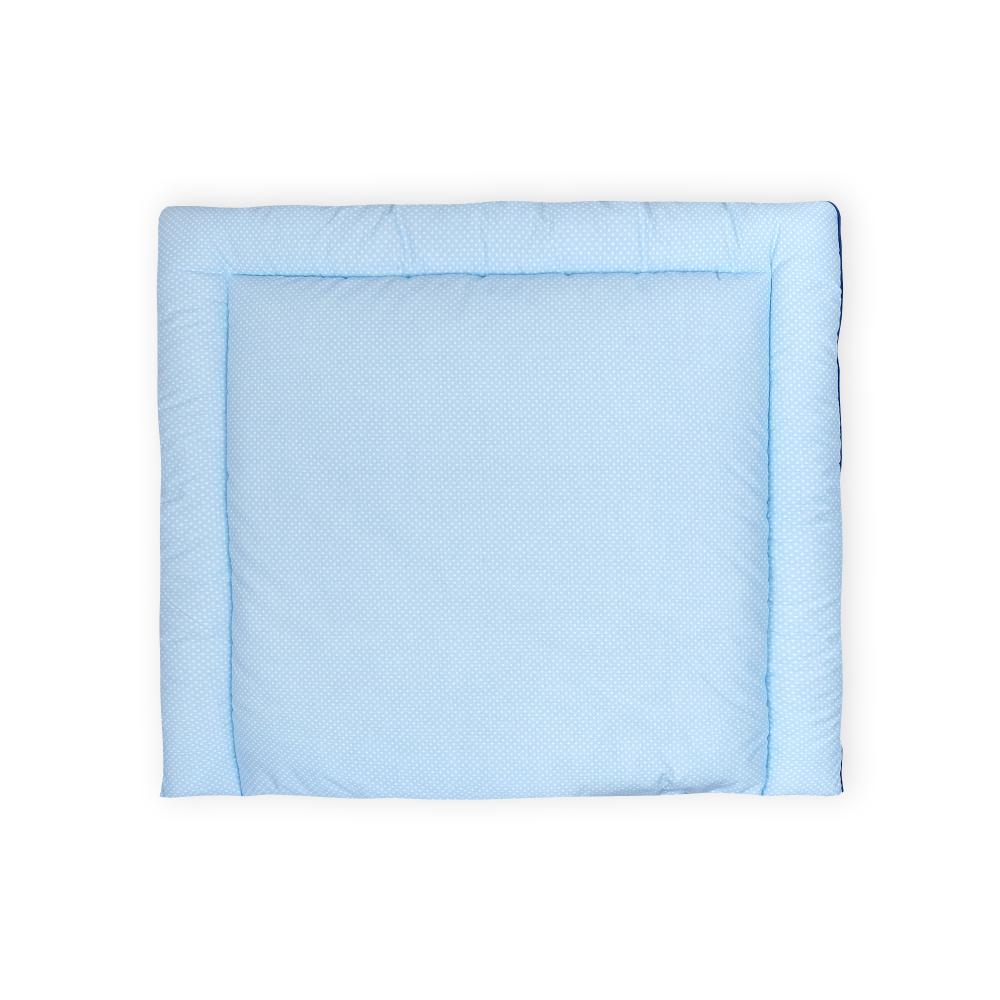 KraftKids Wickelauflage weiße Punkte auf Hellblau 85 cm breit x 75 cm tief