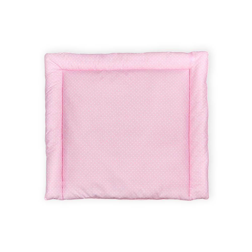 KraftKids Wickelauflage weiße Punkte auf Rosa breit 75 x tief 70 cm