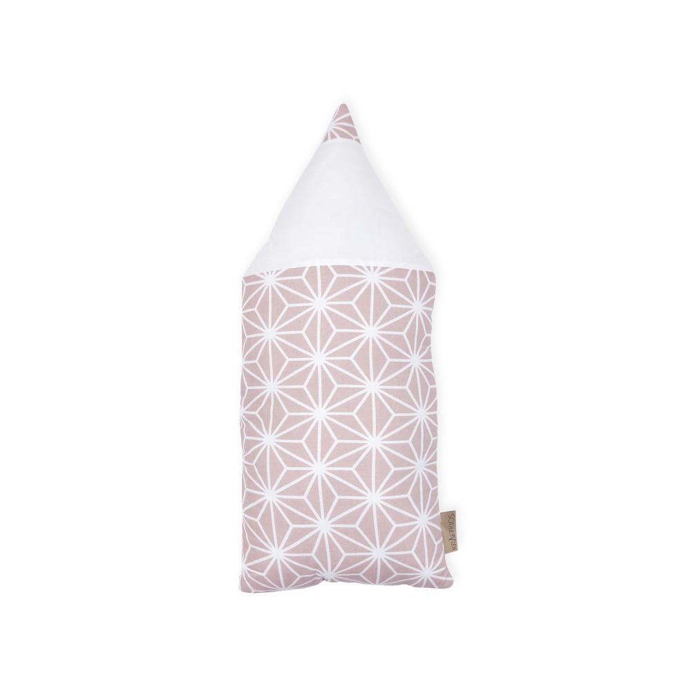 KraftKids Stoffbleistift weiße Diamante auf Cameo Rosa