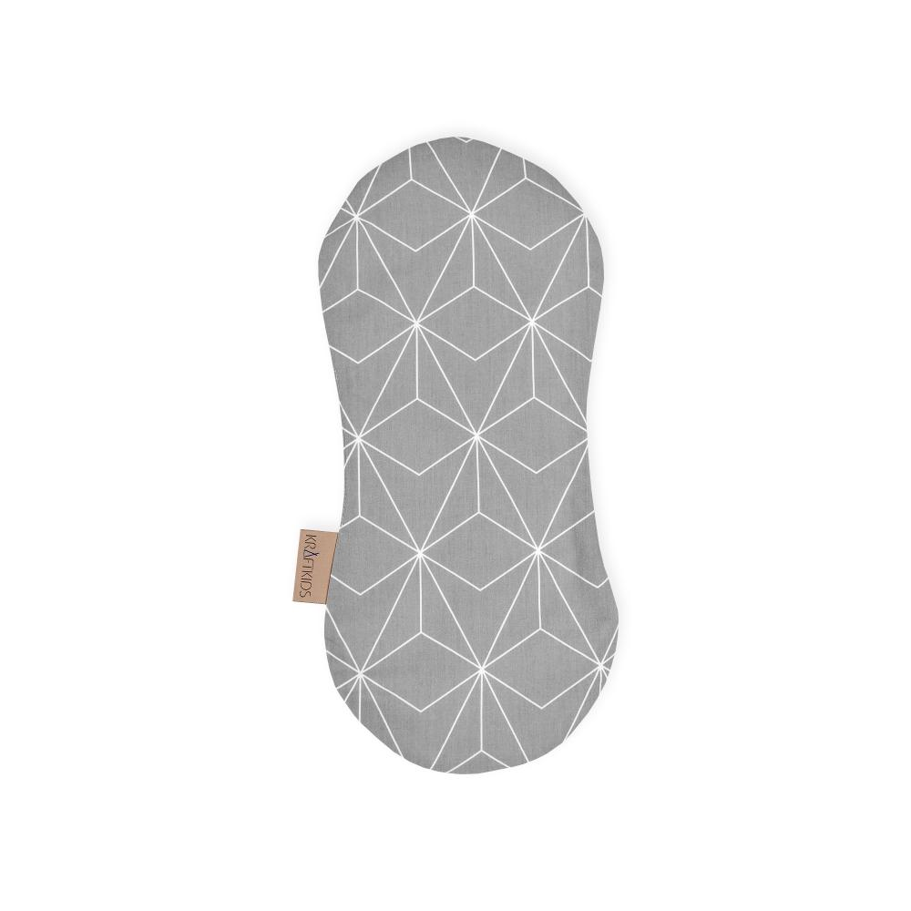 KraftKids Spucktuch weiße dünne Diamante auf Grau