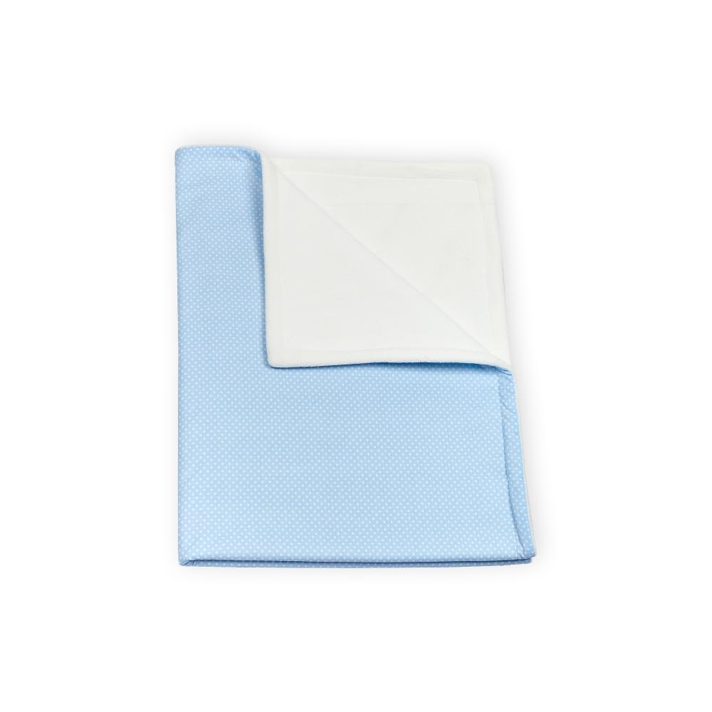 KraftKids Babydecke weiße Punkte auf Hellblau