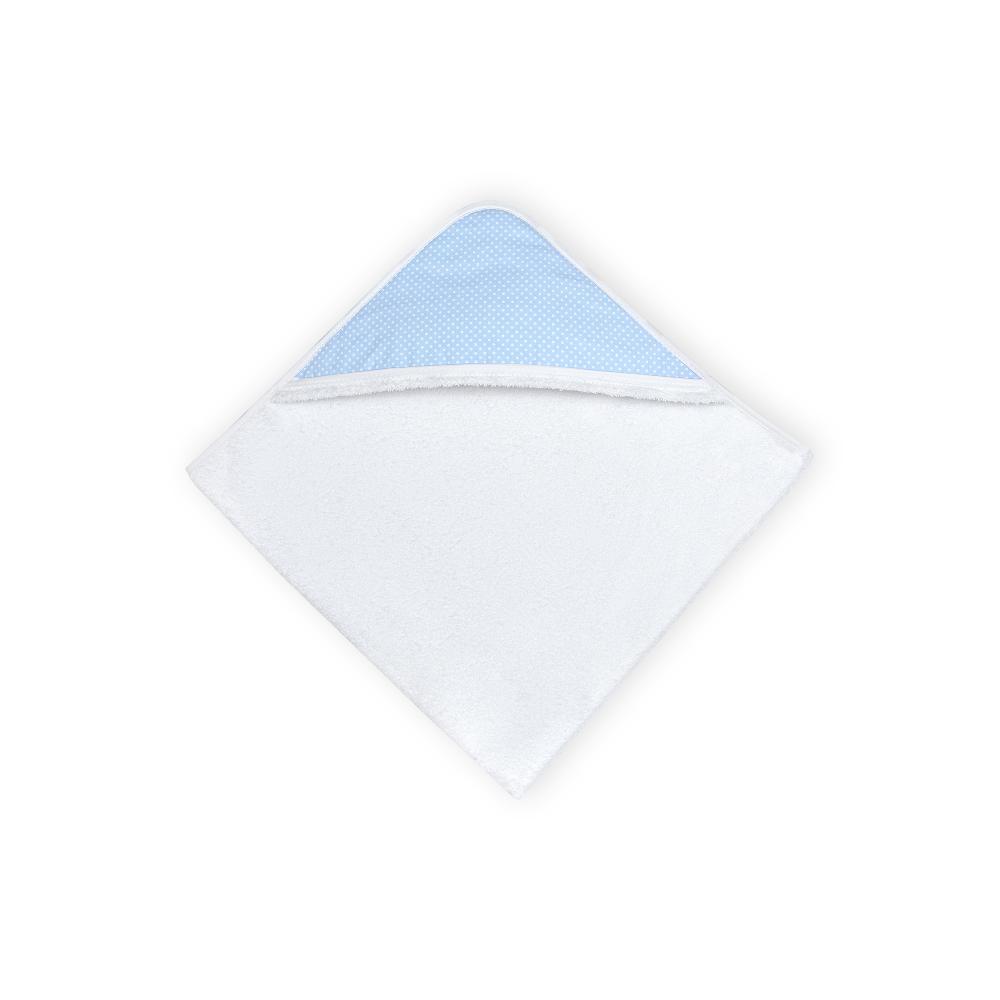 KraftKids Kapuzenhandtuch weiße Punkte auf Hellblau