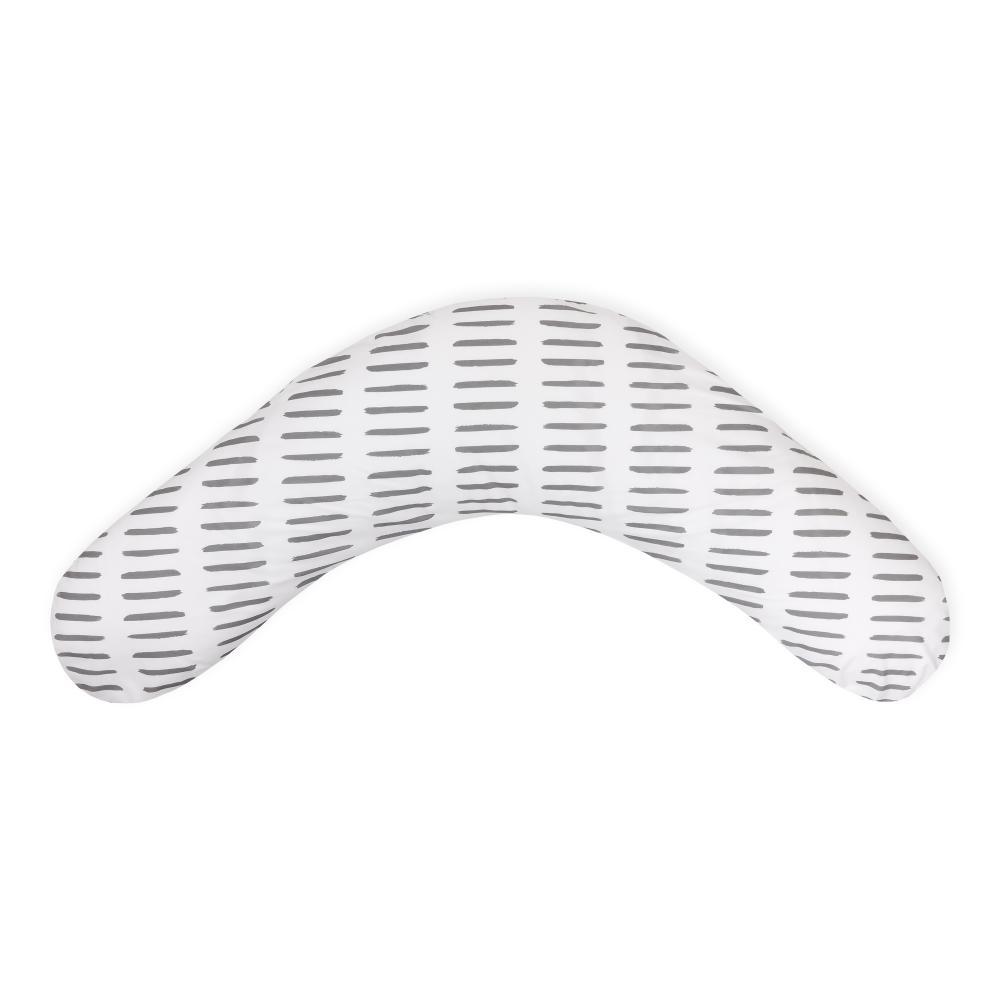 KraftKids qualitäts Stillkissen graue Striche auf Weiß mit geprüften Micro-EPS-Perlen mit