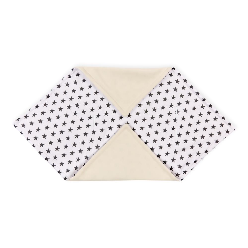 KraftKids Decke für Babyschale Winter kleine graue Sterne auf Weiss