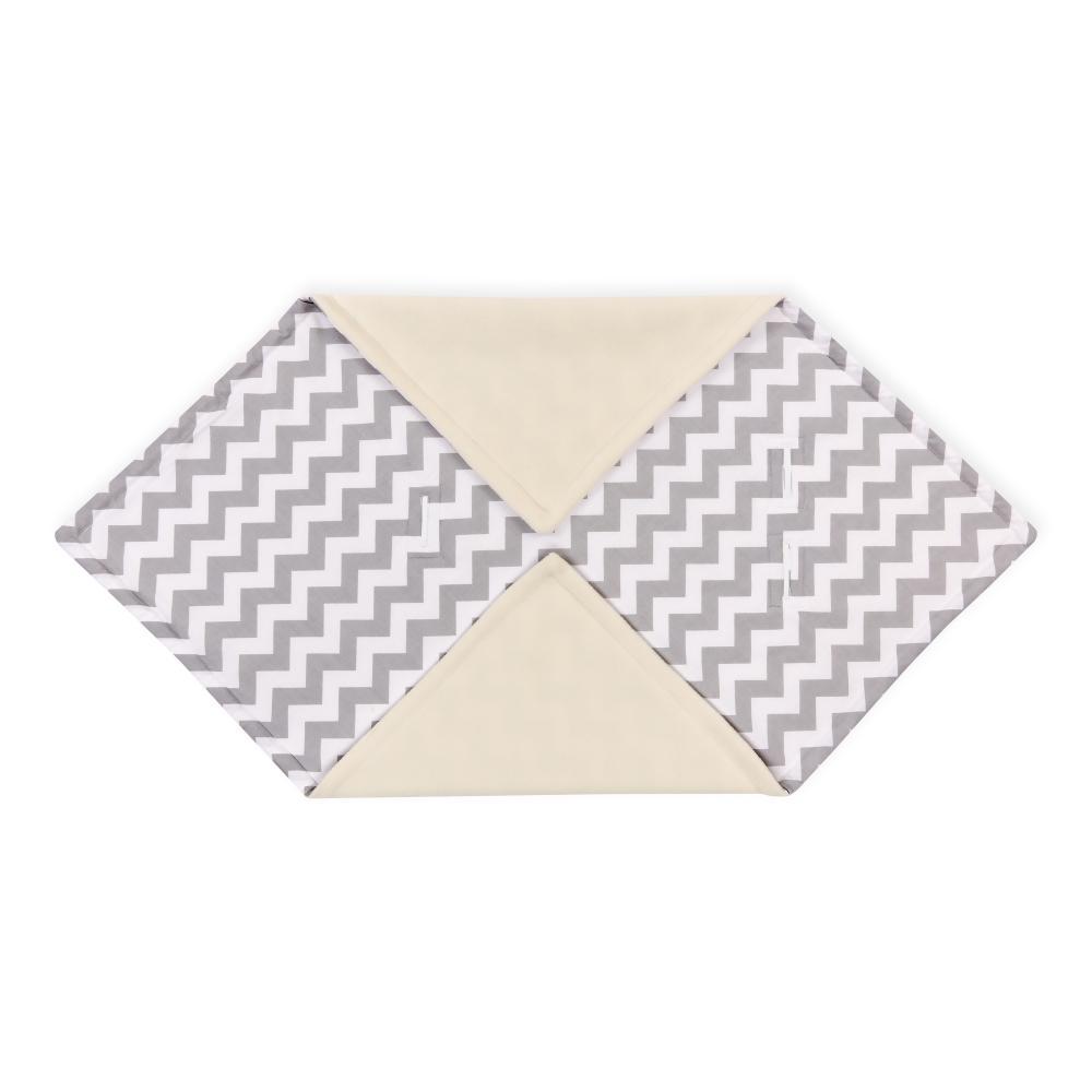 KraftKids Decke für Babyschale Winter Chevron grau