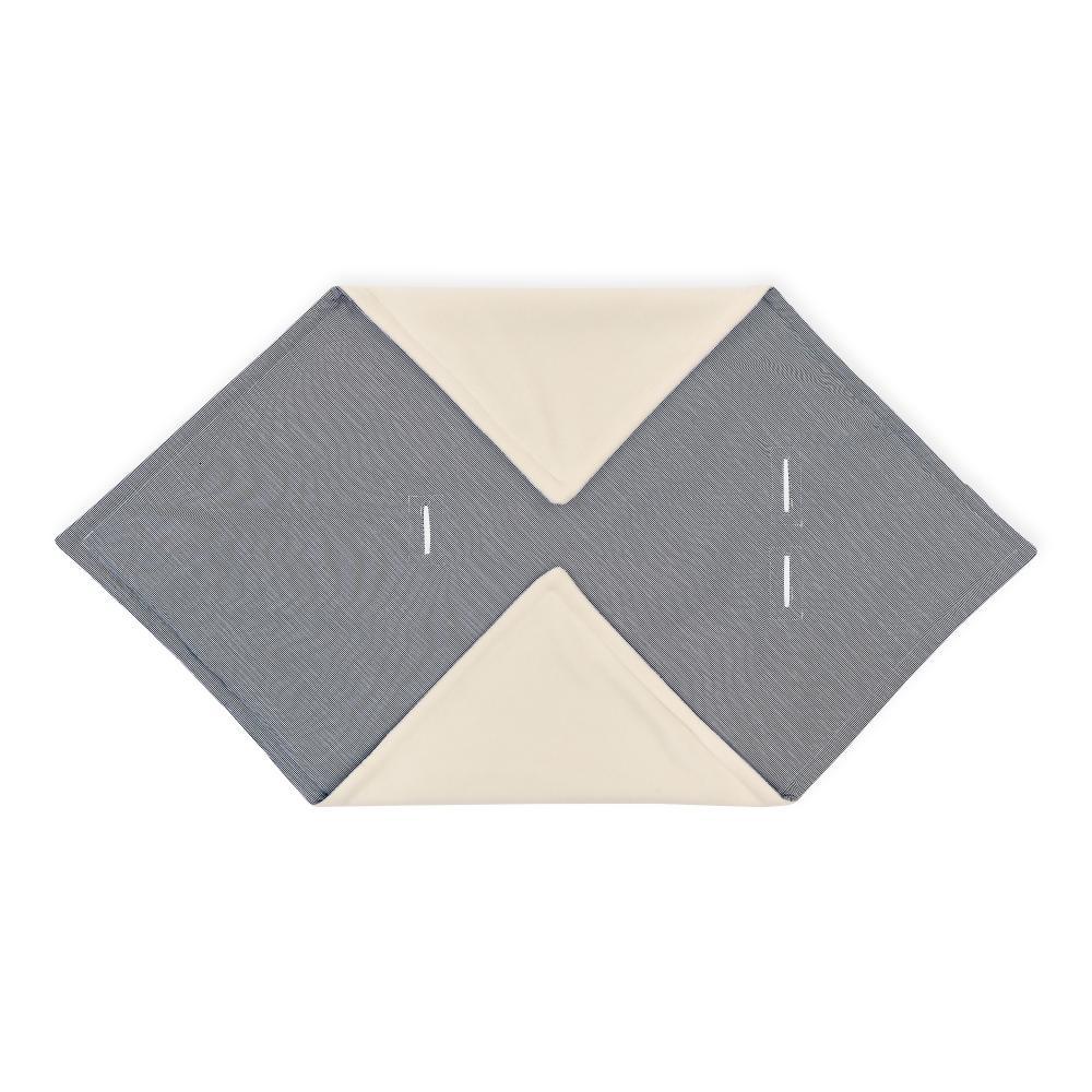 KraftKids Einschlagdecke für Babyschale dünne Streifen dunkelblau
