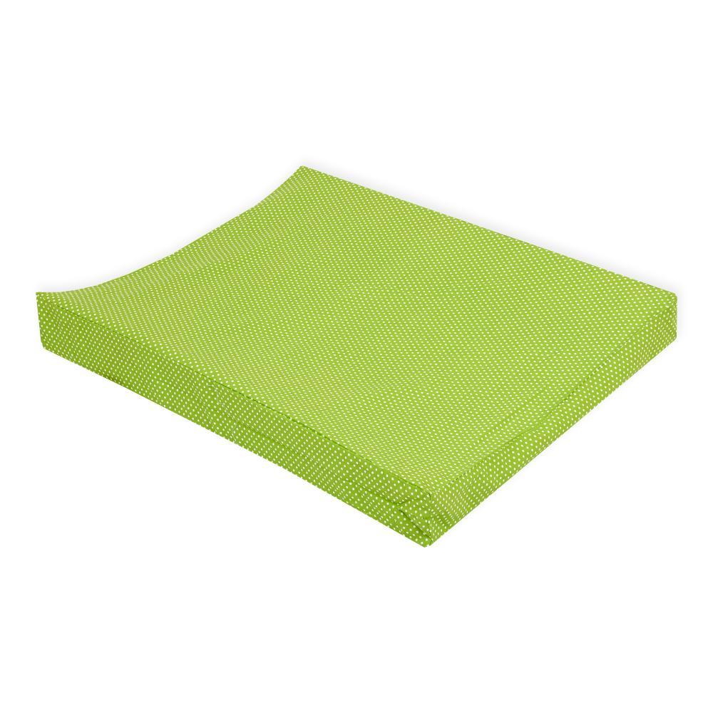 KraftKids Bezug für Keilwickelauflage weiße Punkte auf Grün