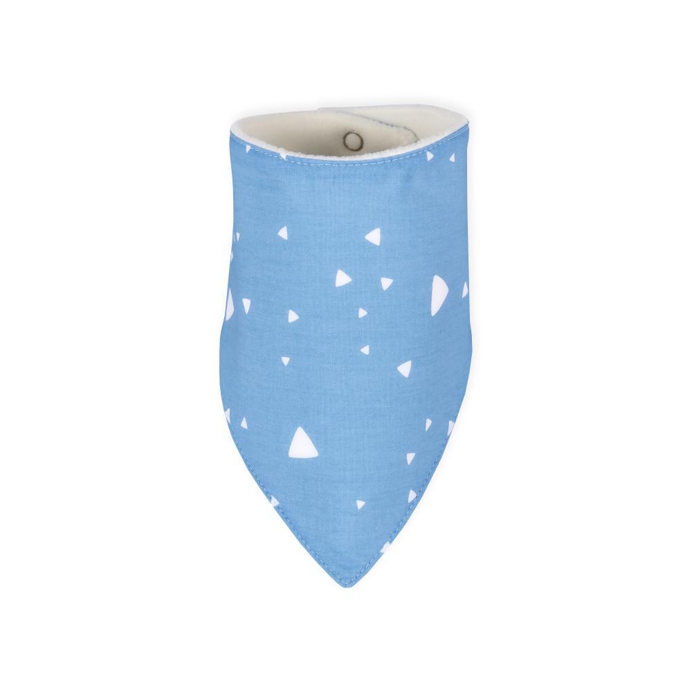 KraftKids Dreieckstuch abgerundete Dreiecke weiß auf Blau