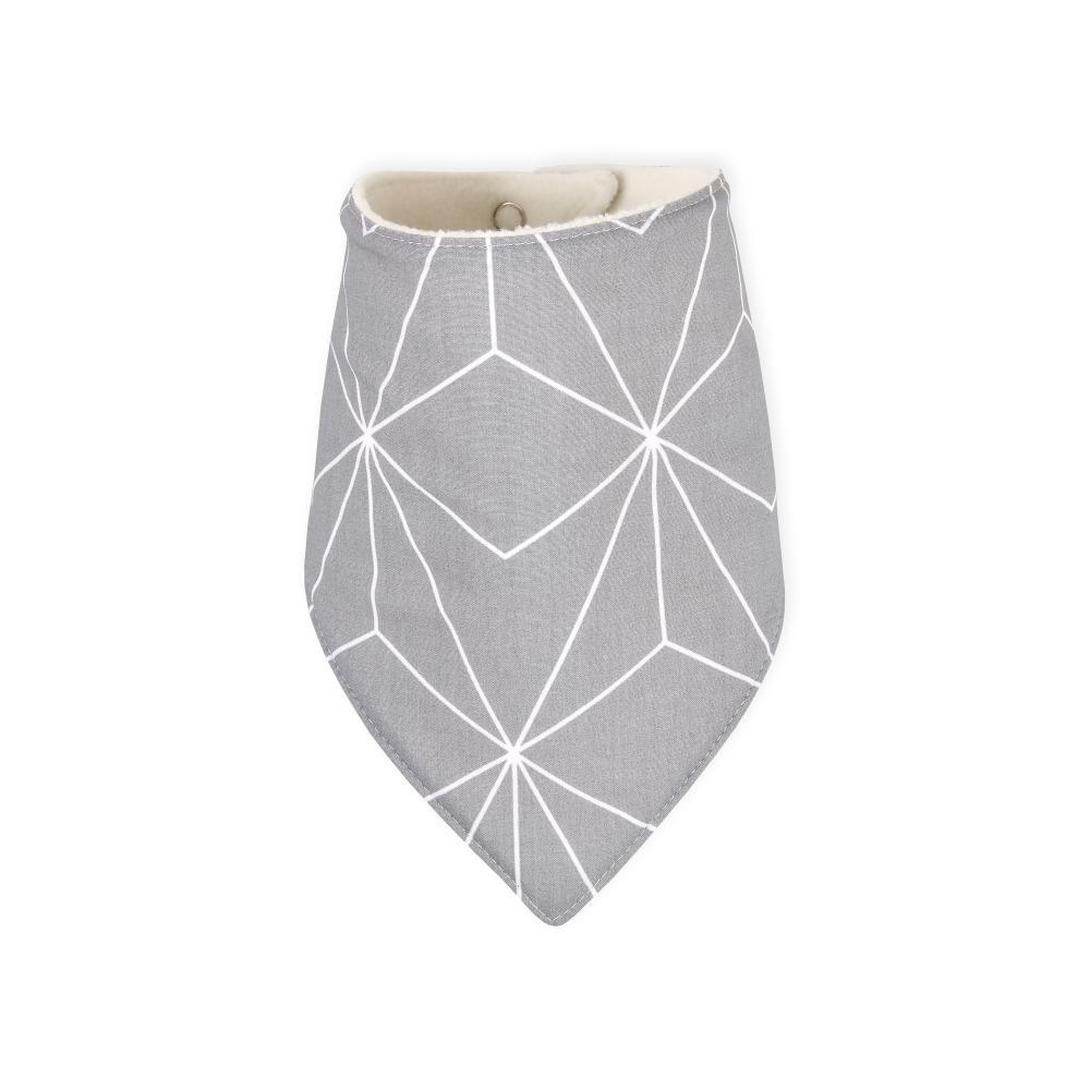 KraftKids Dreieckstuch weiße dünne Diamante auf Grau