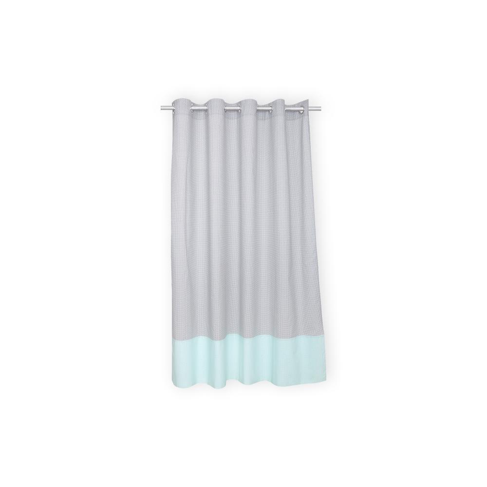 kraftkids gardinen wei e punkte auf grau und wei e punkte auf mint l nge 170 cm. Black Bedroom Furniture Sets. Home Design Ideas