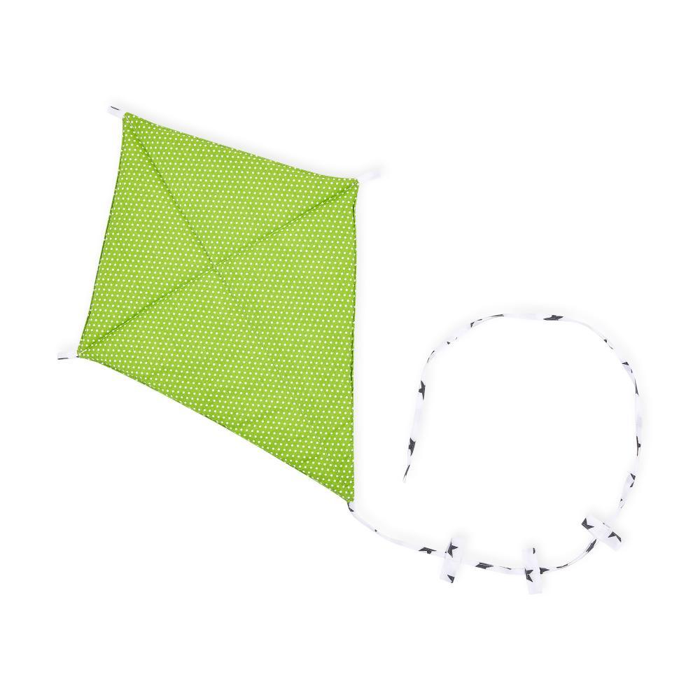 KraftKids Dekoration Luftdrache weiße Punkte auf Grün