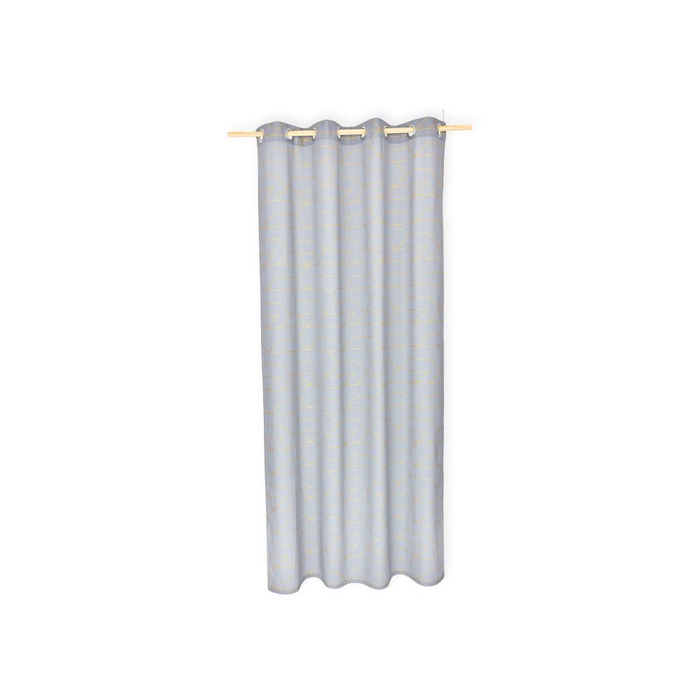 KraftKids Gardinen goldene Linien auf Grau Länge: 170 cm