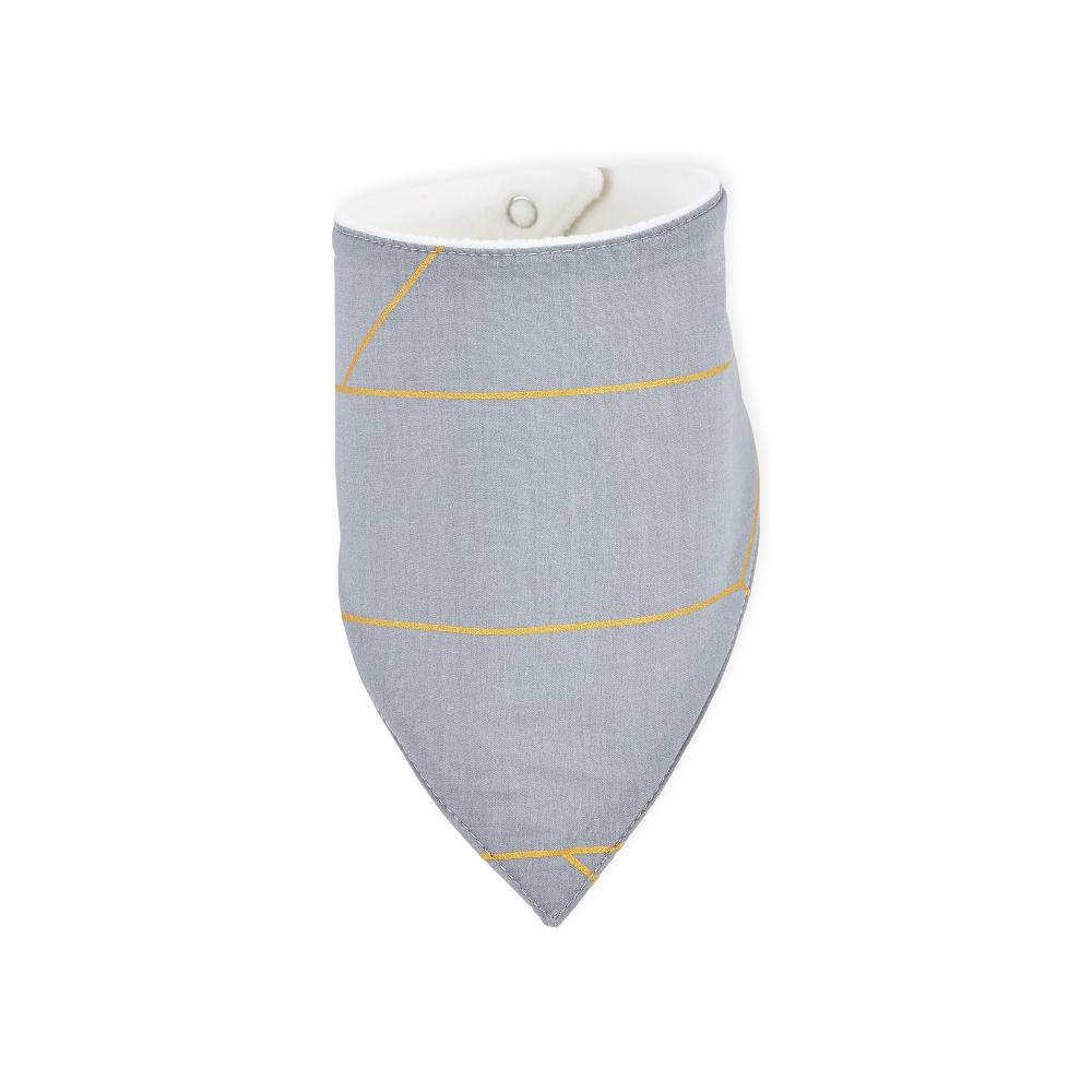 KraftKids Dreieckstuch goldene Linien auf Grau