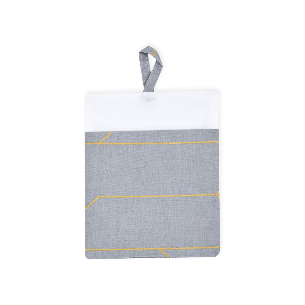 KraftKids Waschlappen goldene Linien auf Grau