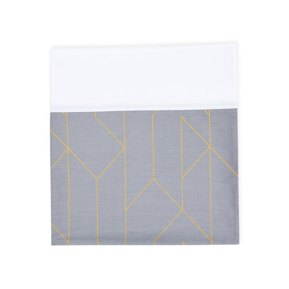 KraftKids Stilltuch goldene Linien auf Grau