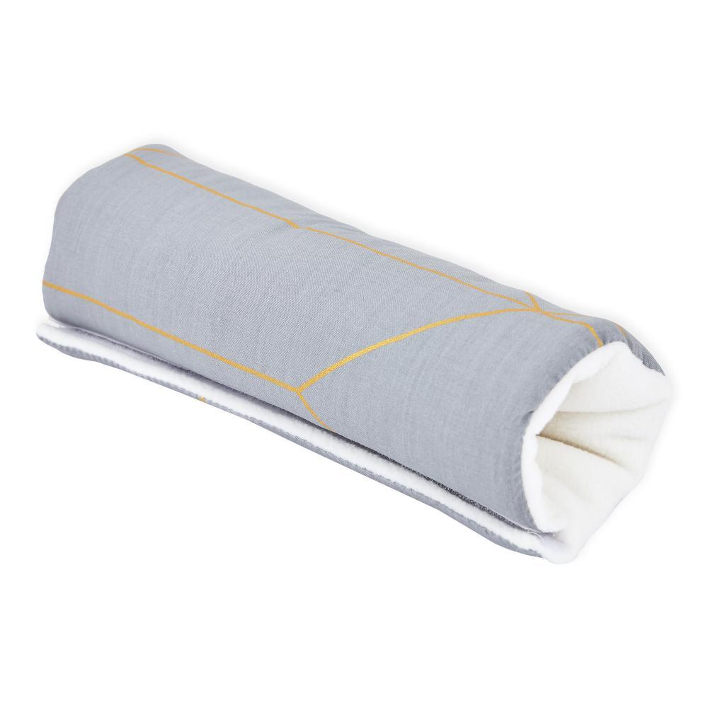 KraftKids Armschoner Babyschale goldene Linien auf Grau Babyschale Armpolster
