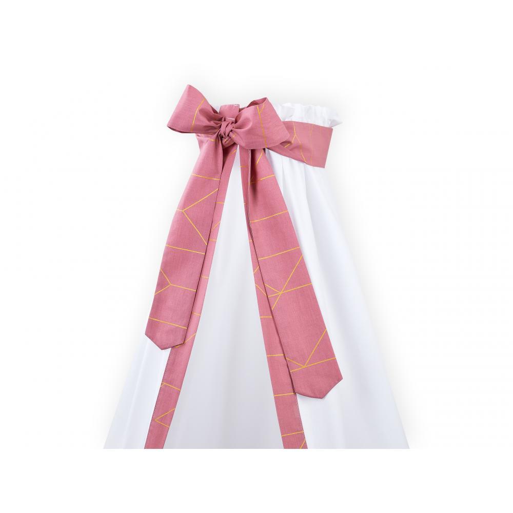 KraftKids Betthimmel goldene Linien auf Rosa