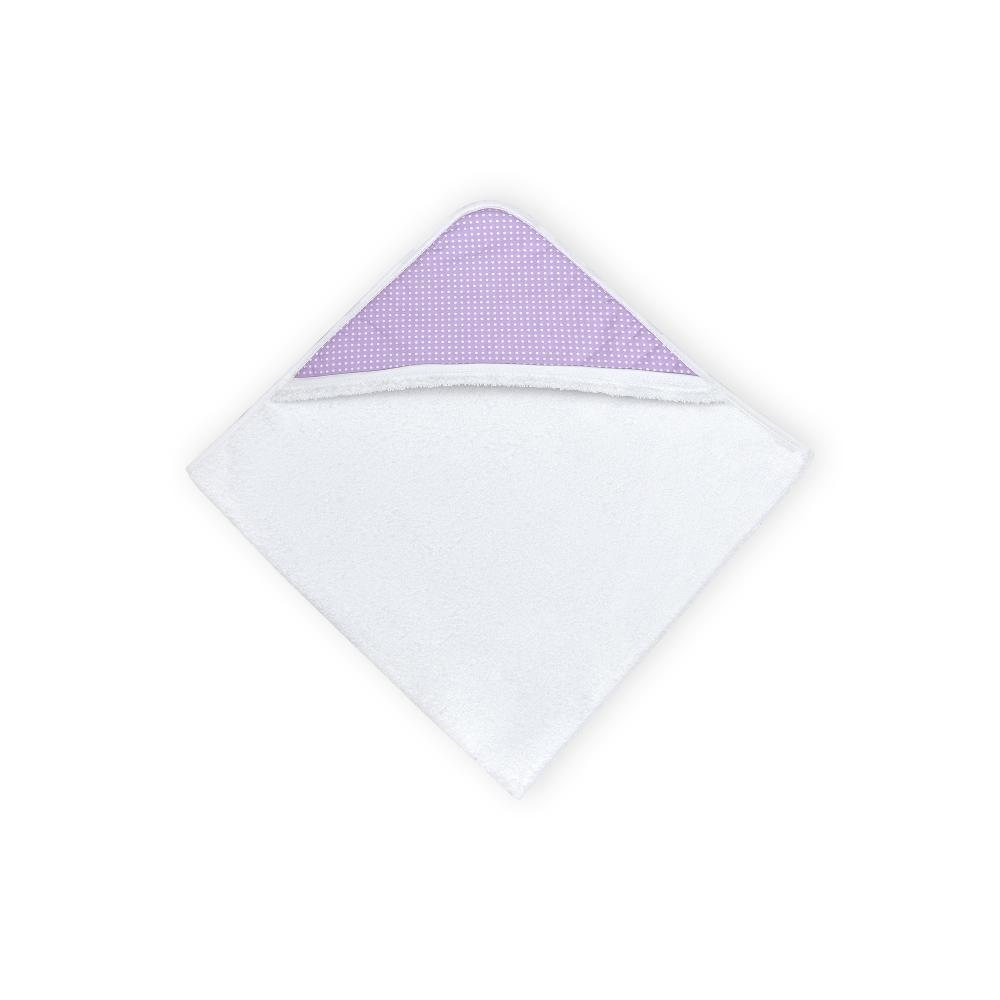 KraftKids Kapuzenhandtuch weiße Punkte auf Lila