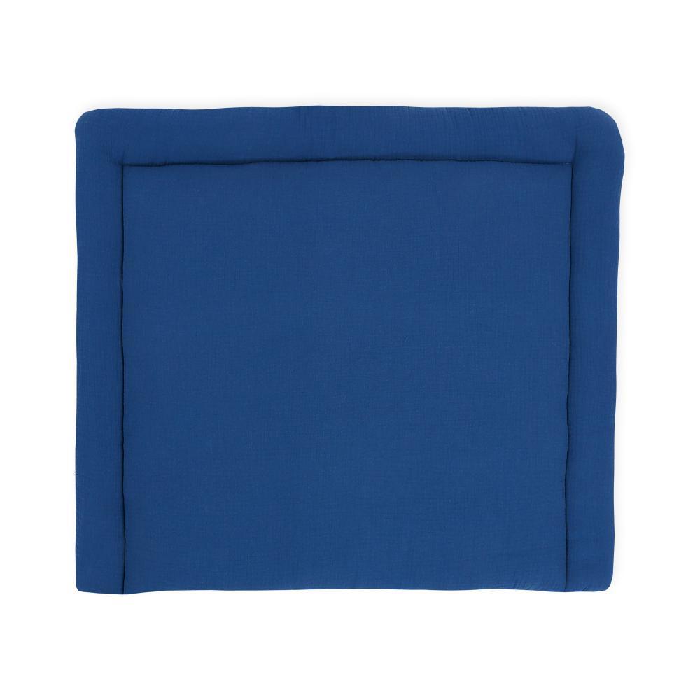 KraftKids Wickelauflage Musselin blau breit 75 x tief 70 cm