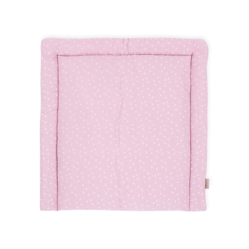 KraftKids Wickelauflage Musselin rosa Pusteblumen breit 78 x tief 78 cm z. B. für MALM oder HEMNES Kommodenaufsatz von KraftKids