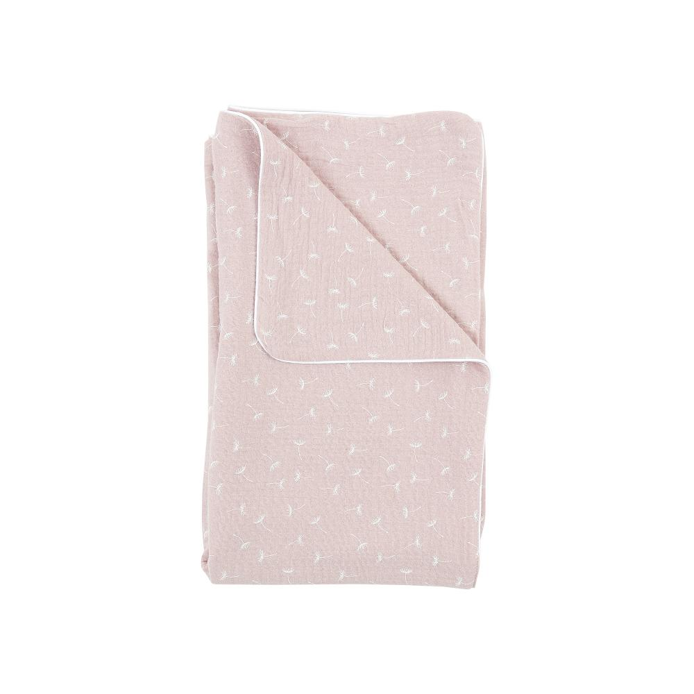 KraftKids Babydecke Musselin rosa Pusteblumen