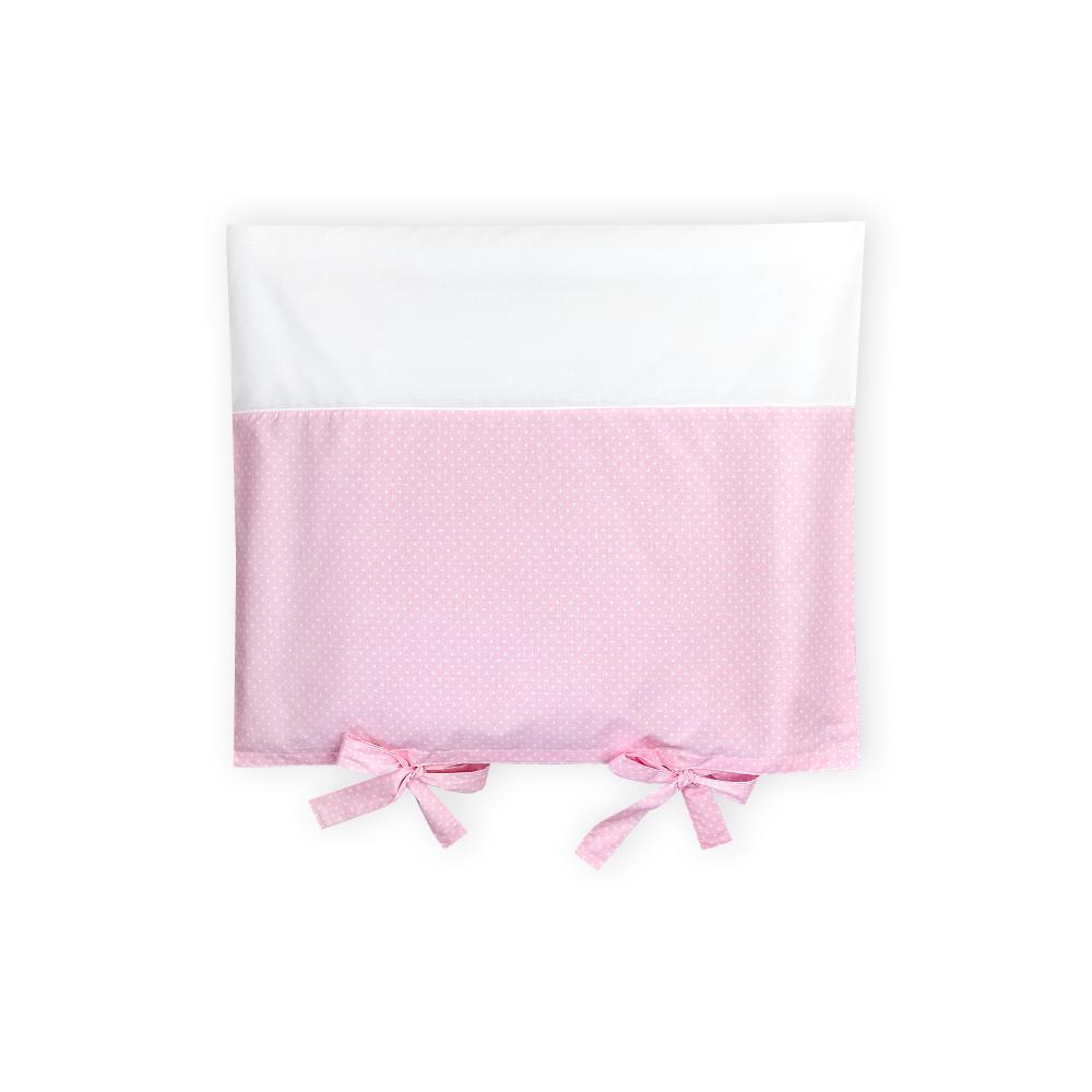 KraftKids Bezug für Wickeltischauflage weiße Punkte auf Rosa