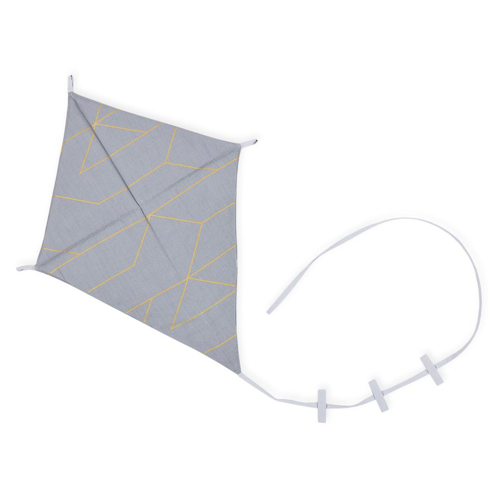 KraftKids Dekoration Luftdrache goldene Linien auf Grau