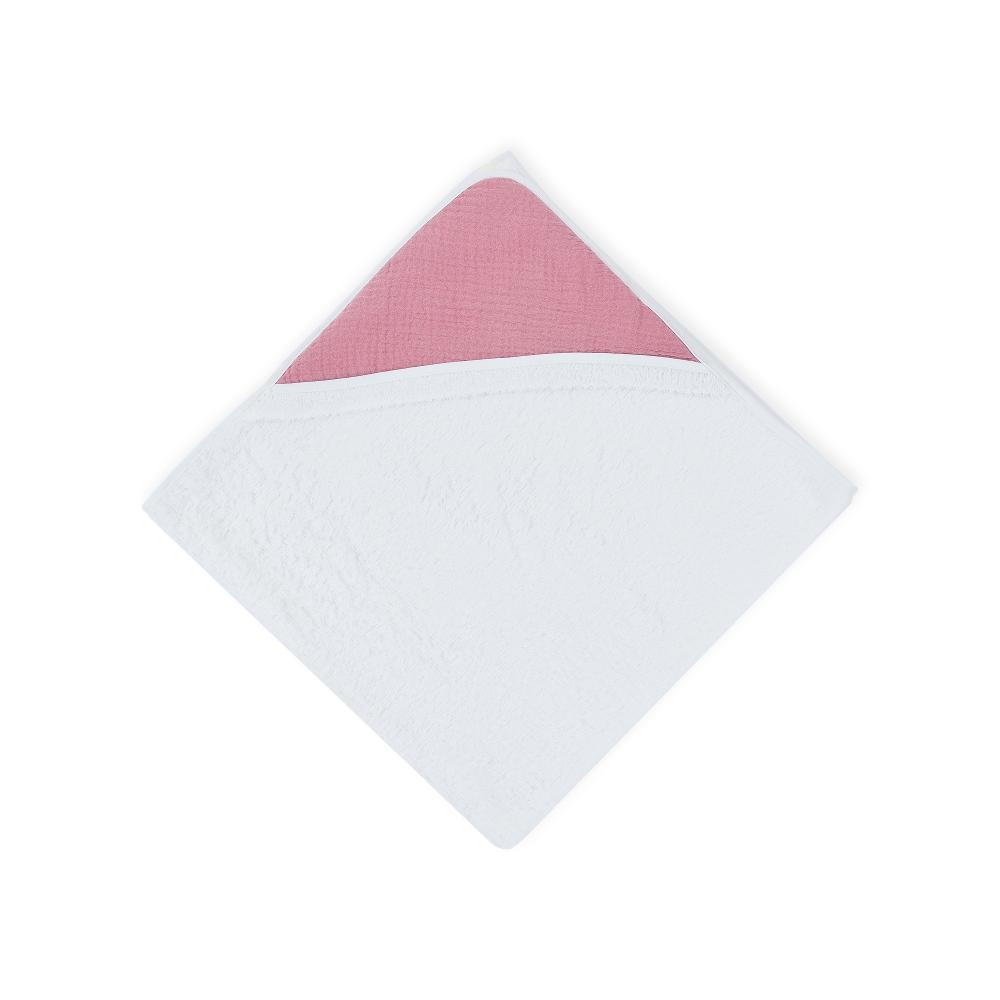 KraftKids Kapuzenhandtuch Musselin rosa